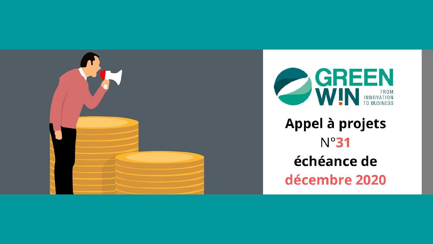 GreenWin lance l'APPEL à PROJETS N°31