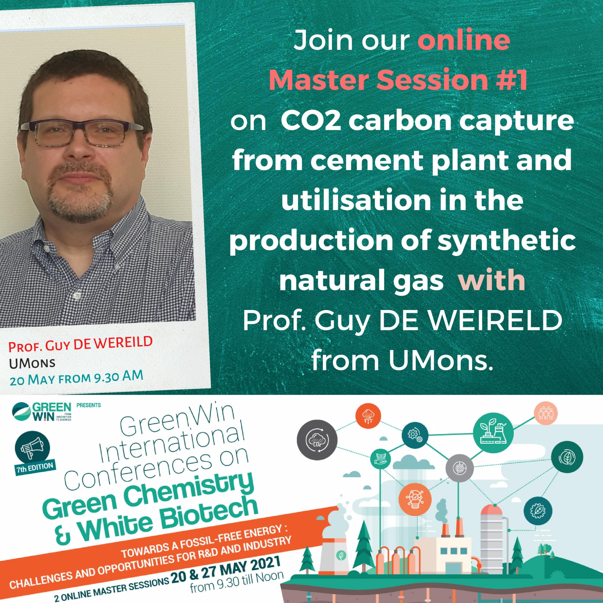 How does CCU from cement plant and utilisation help producing synthetic natural gas? Prof. Guy DE WEREILD from UMons knows all about it!