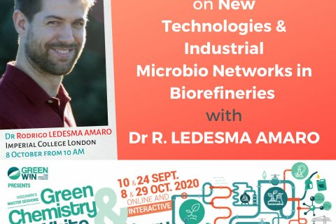 Meet Dr Rodrigo LEDESMA AMARO from Imperial College London on our online Master Session #3 on 8 October 2020 at 10AM