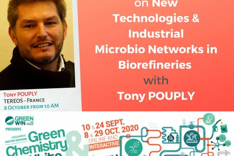 Meet Tony POUPLY from Tereos on our online Master Session #3, on 8 October 2020 at 10AM